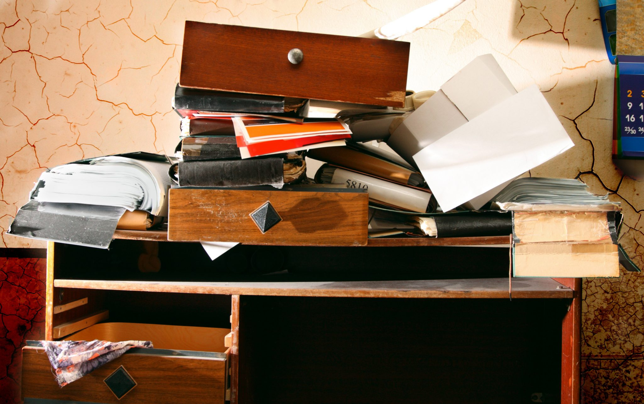 Mesa de Estudos Desorganizada