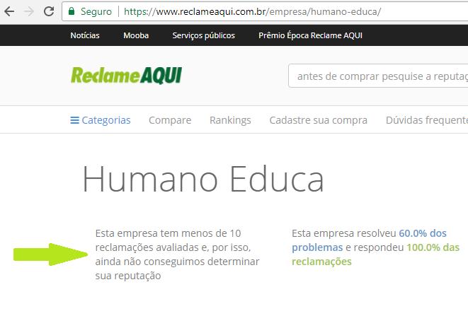 Reputação do Curso Renato Alves Reclame Aqui