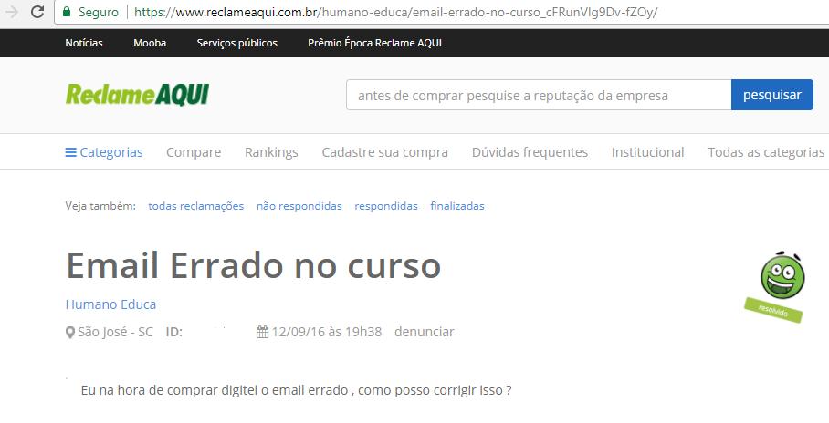 Renato Alves reclamações resolvidas