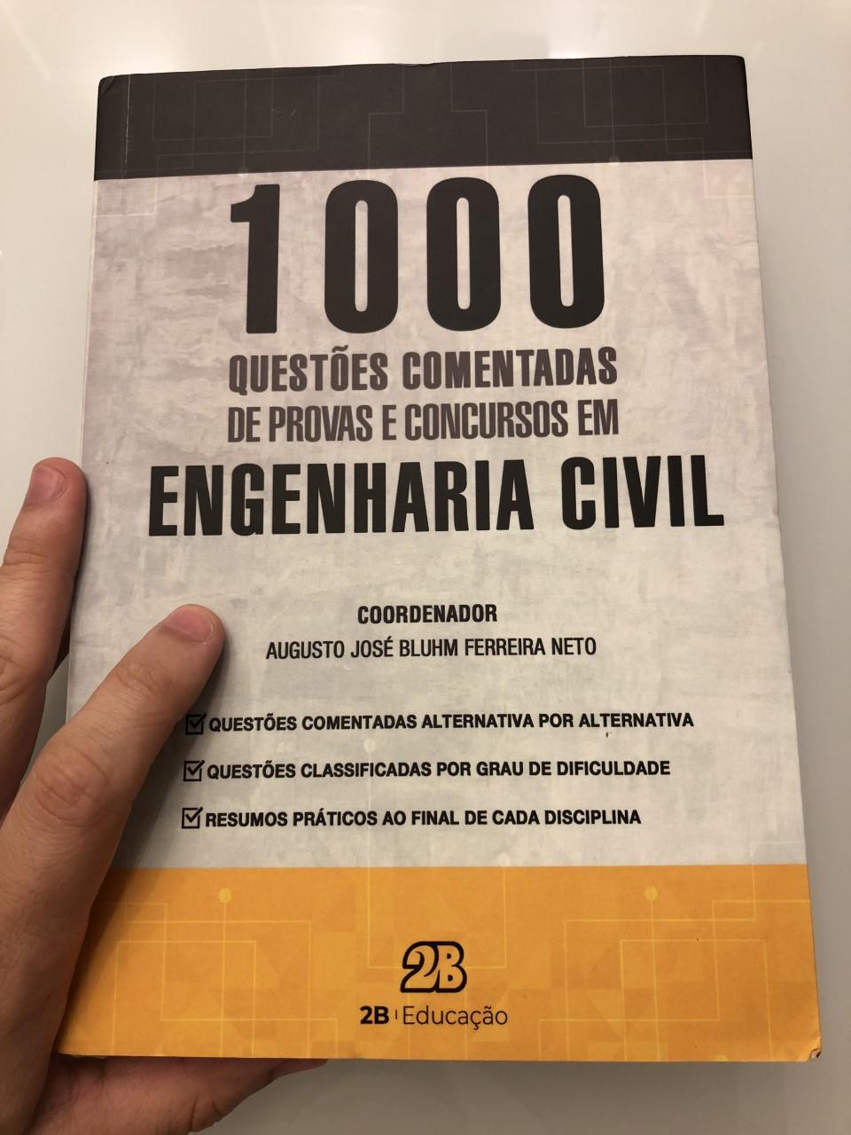 1000 questões comentadas engenharia civil editora 2b