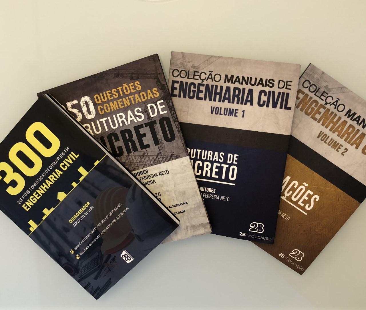 Livros de Engenharia Civil para Concursos - Editora 2b